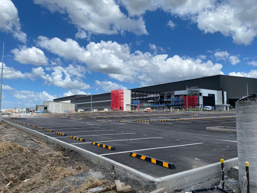 Industrial gate automation - automated food distribution centre, Redbank