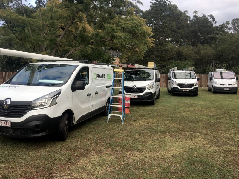 Brisbane Electrical Contractor Vans